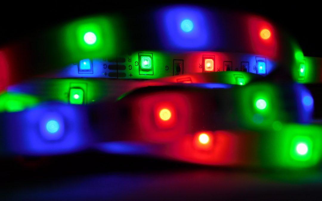 LED strips kan lyse op alle steder